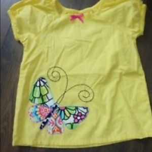 HANNA ANDERSSON  YELLOW BUTTERFLY  SHIRT